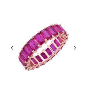 Adina's Jewels Pink Stack Ring 7
